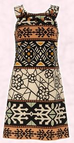 Tribal Fashion Trend - Marks and Spencer Summer 2008 Per Una Collection - Aztec dress tribal design.
