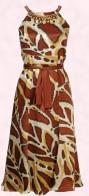 Fashion trend 2008 - One step away from the painterly brushstroke effects are the sophisticated, graphic art prints with graffiti like imagery and earthy primitive tribal art effects.  Monsoon Spring Summer 2008 Womenswear - Malawi dress �180 in store in March 2008.