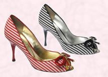 Nautical fashion trends at fashion-era. Dune striped court shoes - Peeptoe - Letsey, �75 or �105 Spring/Summer 2008 - Ladies & Accessories at Dune.
