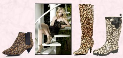 Leopard Animal Print Looks in Boots.