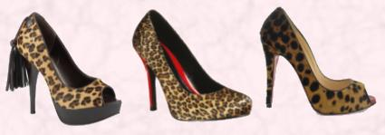 Heeled Animal Footwear - Leopard Court Shoes