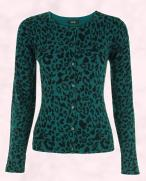 Tesco F&F green leopard print cardigan �14 from the Tesco Autumn 2009 Womenswear F&F Collection.