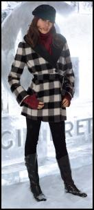 Gil Bret - Black/White Check Jacket. Style No: 9975/6194.  UK� 350.00 IRL� 390.00.