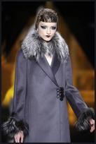 Understated Elegance - Couture quality fabric in Dior vintage style 1920s grey coat.
