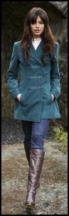 Long Tall Sally Fashions - Petrol Blue Kern Military Coat AW2009-10