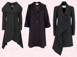 Per Una Autumn 2009 - Origami Coat T62 0108F �120.00. In store at Marks & Spencer in September sizes: 8-20. Max Mara Coat from Harvey Nichols.  Stunning Rue du Mail coat from Harvey Nichols.