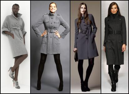 Belted grey coats for Autumn 2009-10.