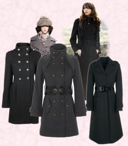 Autumn 2009 - All these women's military coat items are from Autumn 2009 collections on the high street or at selected stores.