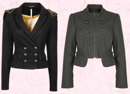 Military Black Cropped Trophy Jacket �60/�95. DP COLLECTION @ Dorothy Perkins AW09 Cropped Military Jacket �30, AW09. G21 George at ASDA.