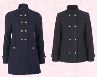 Military Button Coat �74.99 - Blazers and Coats at River Island Clothing Co. Ltd Autograph Navy Military Buttoned Coat �69 Marks & Spencer Autumn Winter 2009