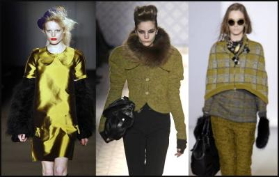 Autumn fashion colours - Warm olive tones