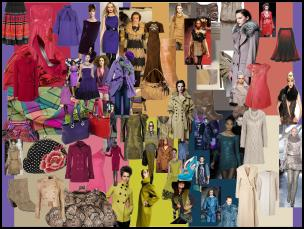 Fashion Trends at www.fashion-era.com - Moodboard of Pantone's top 10 autumn 2009 colours for women