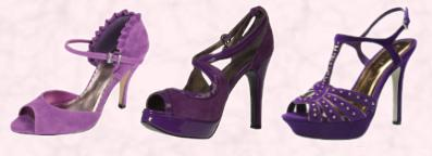 Barratts Ursula Purple Imitation Suede Two Part Occasion Shoe Frill Detail - �35. Marisota Purple Shoes, �45. Studded Platform �19. Primark Autumn 2009 Collection.