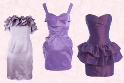 RARE - Vanessa Power Dress - �40 - In Purple.  Rare - Mollie Zip Front Peplum Dress - �35. Littlewoods Ruffle Bustier Dress - �85.