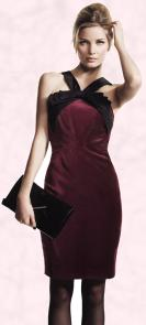 Plum damson velvet bow halter neck dress �160 by Untold - House of Fraser.