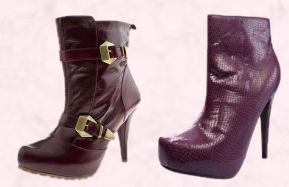 Snakeskin Square Toe Concealed Platform Boots �25  from www.boohoo.com A/W 09 Shoes and Boots. Schuh Pepa 2 Buckle Ankle Boot Burgundy Leather �79.99/�105.