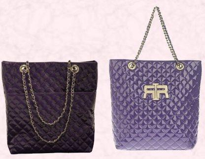 Rich Purple Chanel Style Quilted Shopper - Chain Handle - �20.  Light Purple River Island Large Quilted Shopper - �29.99.