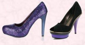 Littlewoods AW09 Clothing & Footwear - Love Label Stellar Sequin Platform Shoe �30.  Faith Footwear Suede Peep Toe Platform Court 'Crave' Shoe -�80 Also in Aubergine.
