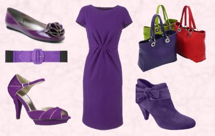 Purple tones for women's fashions autumn 2009-2010.