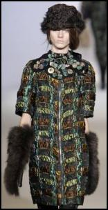Brocade Coat by Marni and with centre front zip - AW2009.