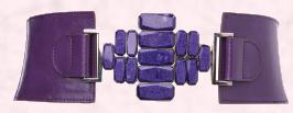 Wallis Christmas 2009 - Purple Stone Embossed Elastic Belt �18/�24.