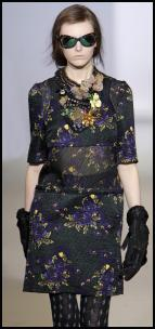 Marni Autumn 2009 Rose Brocade Catwalk Dress.