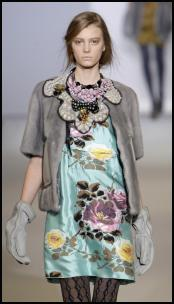 AW09/10 Catwalk Fashion from Marni - Rose Dress