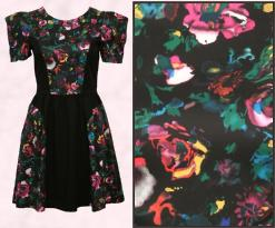 ASOS Autumn 2009 WW Clothing - Midnight Flower Panel Dress �40.