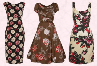 Phase Eight Autumn Winter 2009 - Rosie Dress �89. Brown Per Una Floral Prom Dress �75.00 Marks & Spencer Per Una Autumn 2009.  Ivory White Maribel Dress �85/�144 Eire Monsoon Autumn/Winter 2009 - Occasionwear.