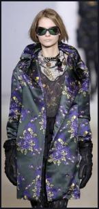 Marni Autumn 2009 Rose Brocade Catwalk Coat.