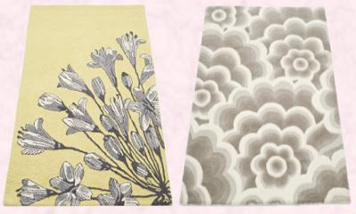 NEXT Home AW09 - Botanical Study Rug from �80/�105.  NEXT Autumn Winter 2009 - Raised Flower Rug from �80/�105