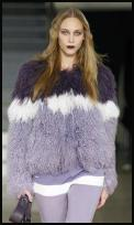 Falll 2009 - Ombre shaded purple Mongolian fur chubby coat by House of Holland.