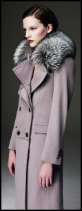 Autumn 2009, Winter 2010 - Investment dressing with an Aquascutum grey cashmere luxury coat.