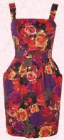 Rose floral dress in reds and purple by NEXT DIRECTORY Autumn Winter 2009/10 collection.