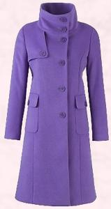 Paul Costello Collection purple coat in luxury cloth and from John Lewis - �399.