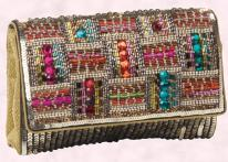 Accessorize Sequin/Bead Clutch Evening Bag
