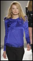 Balmain - Iris Blue Blouse from Harvey Nichols, AW09.