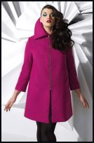 Evans Hot Pink Sleek Zip Coat in Plus Sizes - �65 - Evans Autumn Winter 2009
