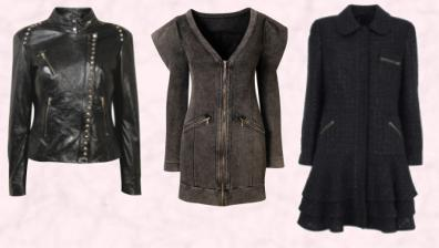 Dorothy Perkins AW 09 - Leather studded biker jacket �120 �190. Miss Selfridge Autumn/Winter 2009 Denim Zip Coat.  Black Winter Coat Marks & Spencer Autumn Winter 2009 - Due in store November 2009.