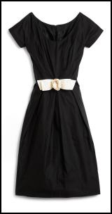 Hobbs Spring Summer 2009 Iliana short sleeved black dress, ivory white bow - �179.