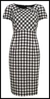 Marks & Spencer Spring Summer 2009 Black and White Gingham Dress - �45.