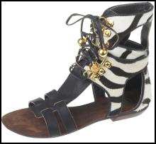 Zebra gladiator sandals �39.99 from the SS09 Ethnic range at River Island Clothing Co. Ltd.