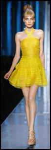 Obama Yellow - This gorgeous cocktail dress was shown at Dior's fashion show for spring 2009.