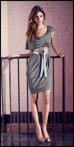 Cool Slate Grey -  Warehouse Gloss - Dress �45/�70, Belt �30/�45, Shoes �75/�115.