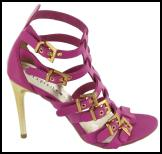 Marrianne (Pink) - �85 �103 Buckle Detail Gladiator Moda in Pelle Spring/Summer 2009