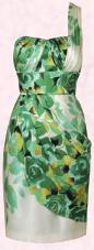 Monsoon Spring/Summer 2009 Originals Lele Greens Cocktail Dress with one shoulder styling - �160/�271.