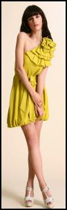Super lemon yellow fashion colours 2009. Origami Asymmetric Dress �65 is from www.asos.com