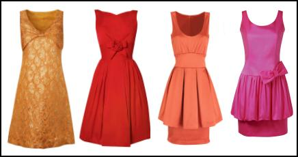 Orange Red to Hot Pink Dresses - The 2009 Fashion Silhouette