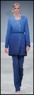 Aquascutum shaded blue trouser suit - Spring 2009