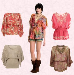Miss Selfridge and Wallis Kaftan Tops and Kimono Tops.